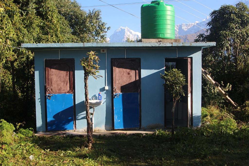 A public toilet en route Poon Hill in Myagdi District. (Image: Aawaaj News)